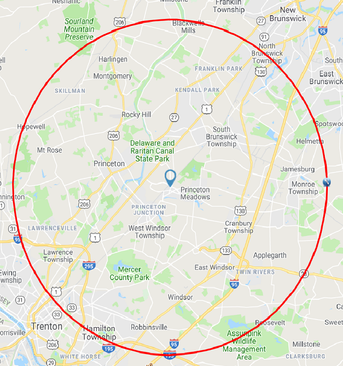 Pick up and Delivery - 10 mile Radius from Plainsboro